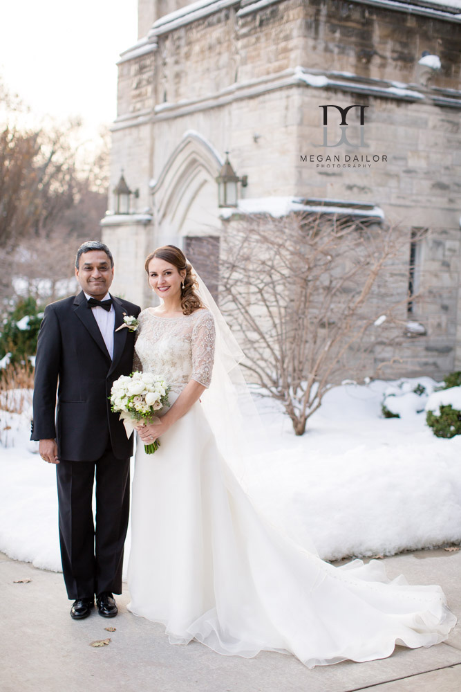 rochester winter wedding